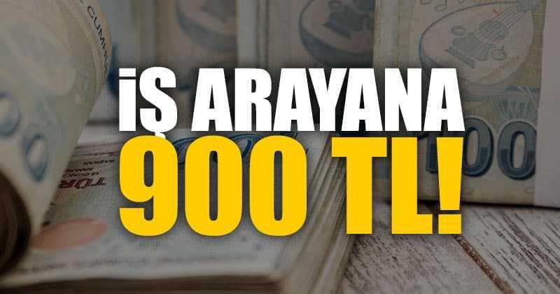 İş Arayanlara 900 TL Devlet Desteği
